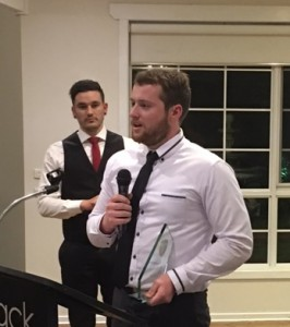 2016 Mens - Player's Player Award winner Sam Jones (right)